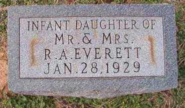 EVERETT, INFANT DAUGHTER - Dallas County, Arkansas | INFANT DAUGHTER EVERETT - Arkansas Gravestone Photos