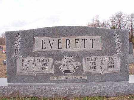 EVERETT, RICHARD ALBERT - Dallas County, Arkansas | RICHARD ALBERT EVERETT - Arkansas Gravestone Photos