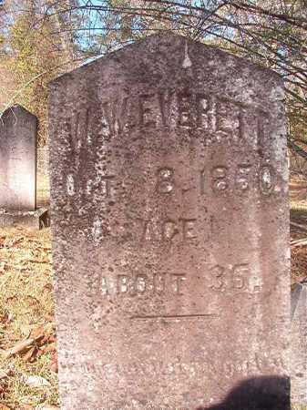 EVERETT, W W - Dallas County, Arkansas   W W EVERETT - Arkansas Gravestone Photos