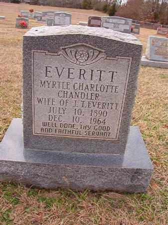 CHANDLER EVERITT, MYRTLE CHARLOTTE - Dallas County, Arkansas | MYRTLE CHARLOTTE CHANDLER EVERITT - Arkansas Gravestone Photos