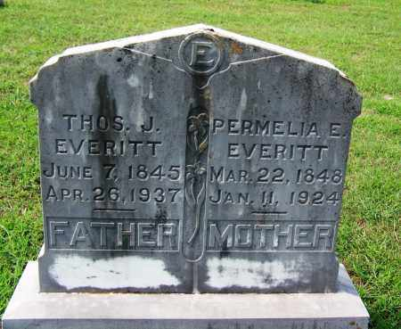 EVERITT, PERMELIA ELIZABETH - Dallas County, Arkansas | PERMELIA ELIZABETH EVERITT - Arkansas Gravestone Photos