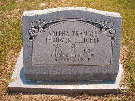 TRAMBLE THROWER FLETCHER, ARLENA - Dallas County, Arkansas | ARLENA TRAMBLE THROWER FLETCHER - Arkansas Gravestone Photos