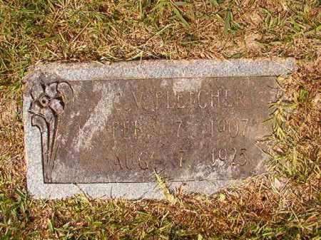 FLETCHER, C V - Dallas County, Arkansas   C V FLETCHER - Arkansas Gravestone Photos