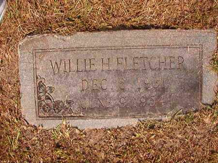 FLETCHER, WILLIE H - Dallas County, Arkansas | WILLIE H FLETCHER - Arkansas Gravestone Photos