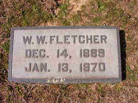 FLETCHER, W W - Dallas County, Arkansas | W W FLETCHER - Arkansas Gravestone Photos