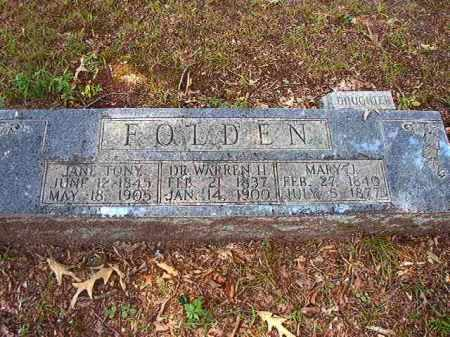 FOLDEN, JANE - Dallas County, Arkansas | JANE FOLDEN - Arkansas Gravestone Photos
