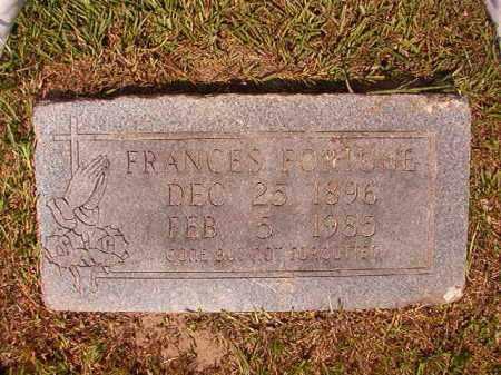 FORTUNE, FRANCES - Dallas County, Arkansas | FRANCES FORTUNE - Arkansas Gravestone Photos