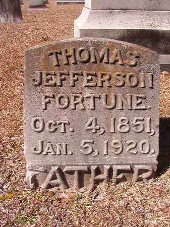 FORTUNE, THOMAS JEFFERSON (BIO) - Dallas County, Arkansas | THOMAS JEFFERSON (BIO) FORTUNE - Arkansas Gravestone Photos