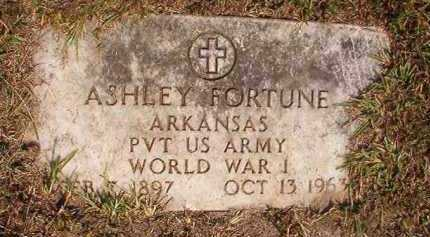 FORTUNE (VETERAN WWI), ASHLEY - Dallas County, Arkansas | ASHLEY FORTUNE (VETERAN WWI) - Arkansas Gravestone Photos