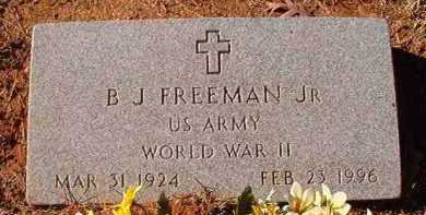 FREEMAN, JR (VETERAN WWII), B J - Dallas County, Arkansas | B J FREEMAN, JR (VETERAN WWII) - Arkansas Gravestone Photos