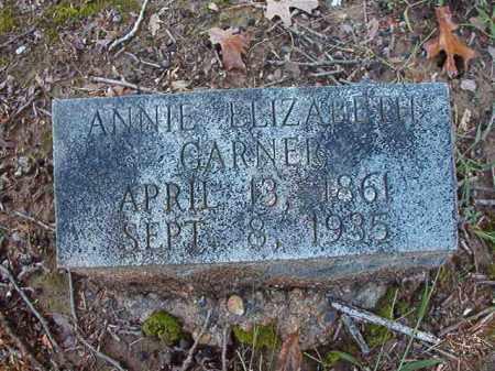 GARNER, ANNIE ELIZABETH - Dallas County, Arkansas | ANNIE ELIZABETH GARNER - Arkansas Gravestone Photos