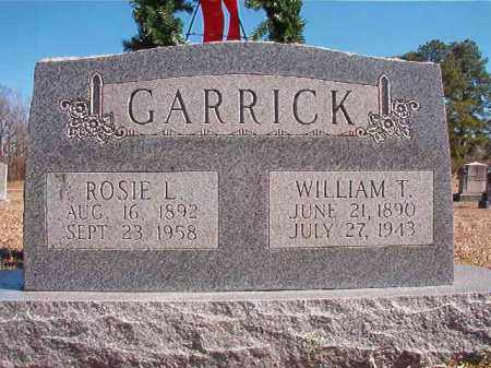 GARRICK, WILLIAM T - Dallas County, Arkansas | WILLIAM T GARRICK - Arkansas Gravestone Photos