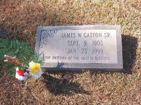 GASTON, SR, JAMES W - Dallas County, Arkansas | JAMES W GASTON, SR - Arkansas Gravestone Photos