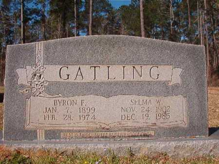 GATLING, BYRON F - Dallas County, Arkansas | BYRON F GATLING - Arkansas Gravestone Photos
