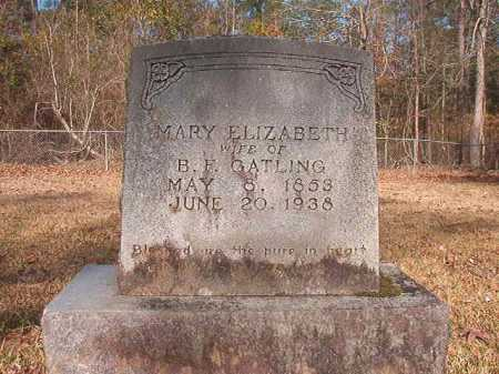 GATLING, MARY ELIZABETH - Dallas County, Arkansas | MARY ELIZABETH GATLING - Arkansas Gravestone Photos