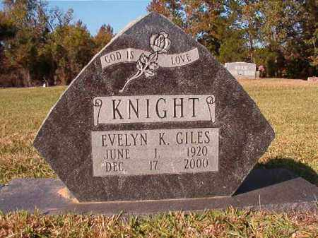 KNIGHT GILES, EVELYN - Dallas County, Arkansas | EVELYN KNIGHT GILES - Arkansas Gravestone Photos