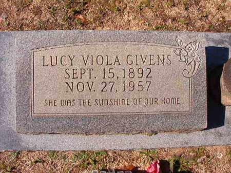 GIVENS, LUCY VIOLA - Dallas County, Arkansas | LUCY VIOLA GIVENS - Arkansas Gravestone Photos