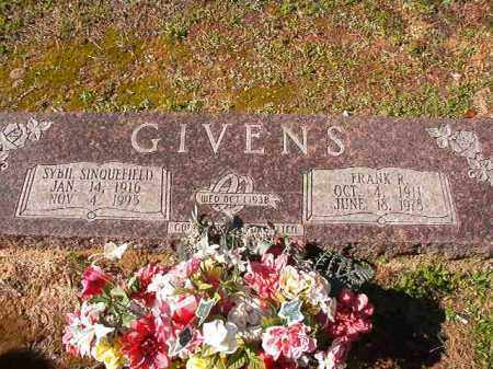 GIVENS, FRANK R - Dallas County, Arkansas | FRANK R GIVENS - Arkansas Gravestone Photos