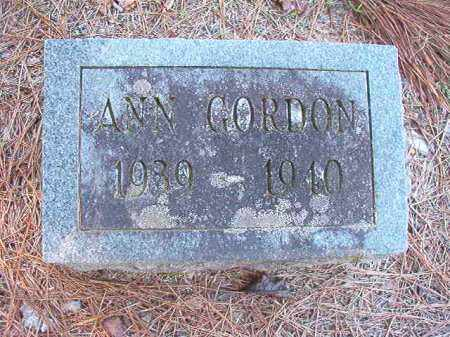 GORDON, ANN - Dallas County, Arkansas | ANN GORDON - Arkansas Gravestone Photos
