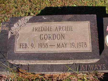 GORDON, FREDDIE ARCHIE - Dallas County, Arkansas | FREDDIE ARCHIE GORDON - Arkansas Gravestone Photos
