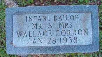 GORDON, INFANT DAUGHTER - Dallas County, Arkansas | INFANT DAUGHTER GORDON - Arkansas Gravestone Photos