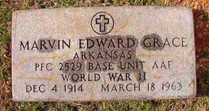 GRACE (VETERAN WWII), MARVIN EDWARD - Dallas County, Arkansas | MARVIN EDWARD GRACE (VETERAN WWII) - Arkansas Gravestone Photos