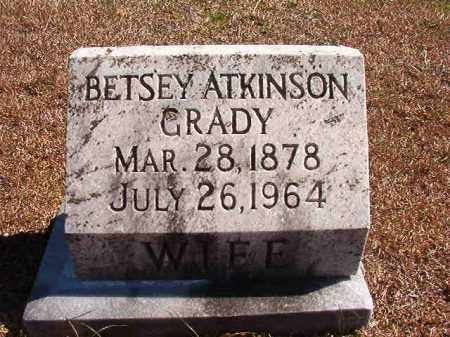 ATKINSON GRADY, BETSEY - Dallas County, Arkansas | BETSEY ATKINSON GRADY - Arkansas Gravestone Photos