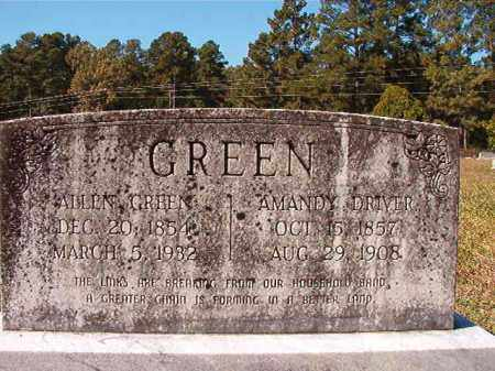 DRIVER GREEN, AMANDY - Dallas County, Arkansas | AMANDY DRIVER GREEN - Arkansas Gravestone Photos