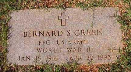 GREEN (VETERAN WWII), BERNARD S - Dallas County, Arkansas | BERNARD S GREEN (VETERAN WWII) - Arkansas Gravestone Photos