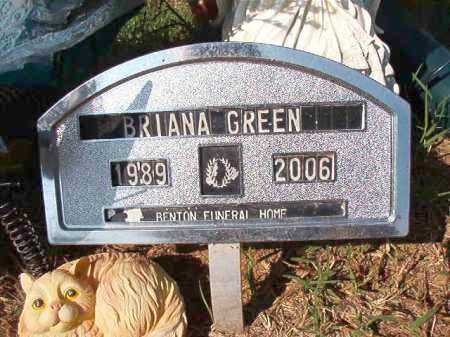 GREEN, BRIANA - Dallas County, Arkansas | BRIANA GREEN - Arkansas Gravestone Photos
