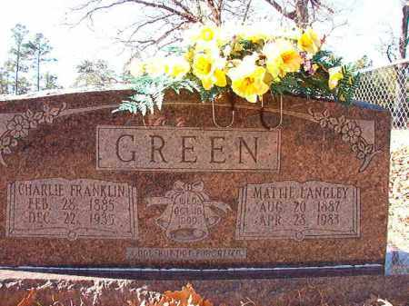 GREEN, CHARLIE FRANKLIN - Dallas County, Arkansas | CHARLIE FRANKLIN GREEN - Arkansas Gravestone Photos