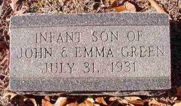GREEN, INFANT SON - Dallas County, Arkansas | INFANT SON GREEN - Arkansas Gravestone Photos
