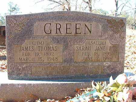 FITE GREEN, SARAH JANE - Dallas County, Arkansas | SARAH JANE FITE GREEN - Arkansas Gravestone Photos