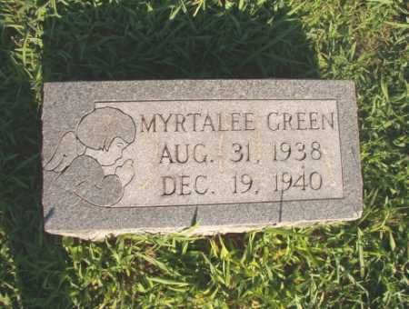GREEN, MYRTALEE - Dallas County, Arkansas | MYRTALEE GREEN - Arkansas Gravestone Photos