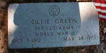 GREEN (VETERAN WWII), OLLIE - Dallas County, Arkansas | OLLIE GREEN (VETERAN WWII) - Arkansas Gravestone Photos