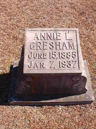 GRESHAM, ANNIE L - Dallas County, Arkansas | ANNIE L GRESHAM - Arkansas Gravestone Photos