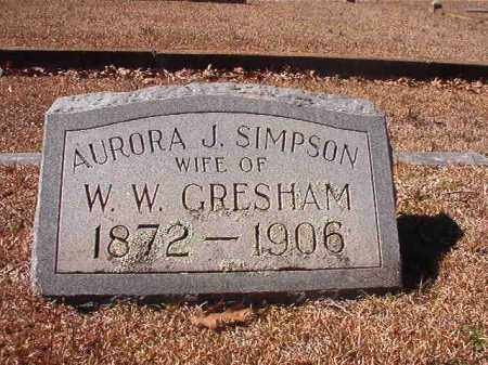SIMPSON GRESHAM, AURORA J - Dallas County, Arkansas | AURORA J SIMPSON GRESHAM - Arkansas Gravestone Photos