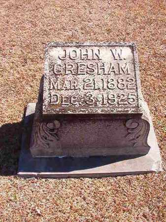 GRESHAM, JOHN W - Dallas County, Arkansas | JOHN W GRESHAM - Arkansas Gravestone Photos