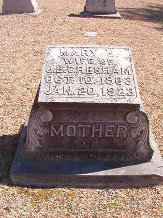 GRESHAM, MARY E - Dallas County, Arkansas | MARY E GRESHAM - Arkansas Gravestone Photos