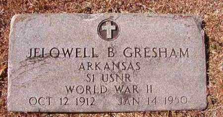 GRESHAM (VETERAN WWII), JELOWELL B - Dallas County, Arkansas | JELOWELL B GRESHAM (VETERAN WWII) - Arkansas Gravestone Photos