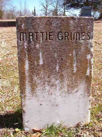 GRIMES, MATTIE - Dallas County, Arkansas | MATTIE GRIMES - Arkansas Gravestone Photos
