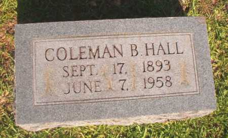HALL, COLEMAN B - Dallas County, Arkansas | COLEMAN B HALL - Arkansas Gravestone Photos