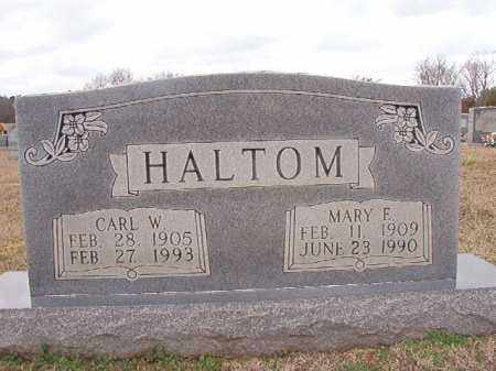 HALTOM, MARY E - Dallas County, Arkansas | MARY E HALTOM - Arkansas Gravestone Photos