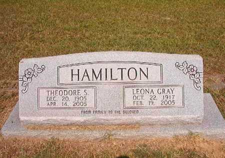 GRAY HAMILTON, LEONA - Dallas County, Arkansas | LEONA GRAY HAMILTON - Arkansas Gravestone Photos