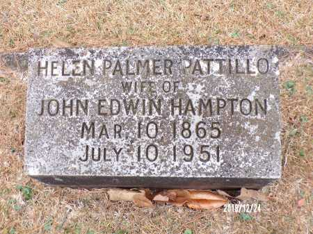 PATTILLO HAMPTON, HELEN PALMER - Dallas County, Arkansas | HELEN PALMER PATTILLO HAMPTON - Arkansas Gravestone Photos