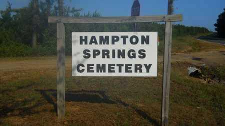 *HAMPTON SPRINGS CEMETERY, SIGN - Dallas County, Arkansas | SIGN *HAMPTON SPRINGS CEMETERY - Arkansas Gravestone Photos