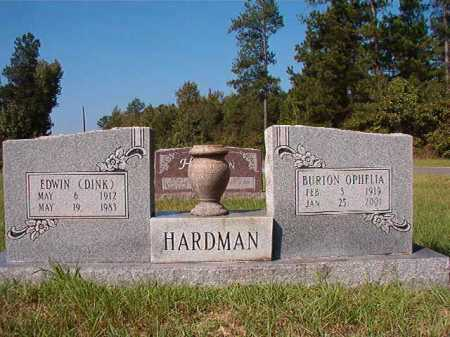 HARDMAN, BURTON OPHELIA - Dallas County, Arkansas | BURTON OPHELIA HARDMAN - Arkansas Gravestone Photos