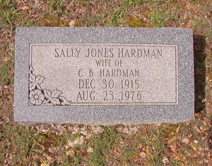 JONES HARDMAN, SALLY - Dallas County, Arkansas | SALLY JONES HARDMAN - Arkansas Gravestone Photos