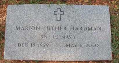 HARDMAN (VETERAN), MARION LUTHER - Dallas County, Arkansas | MARION LUTHER HARDMAN (VETERAN) - Arkansas Gravestone Photos
