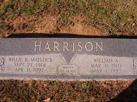 HARRISON, WILLIAM A - Dallas County, Arkansas | WILLIAM A HARRISON - Arkansas Gravestone Photos